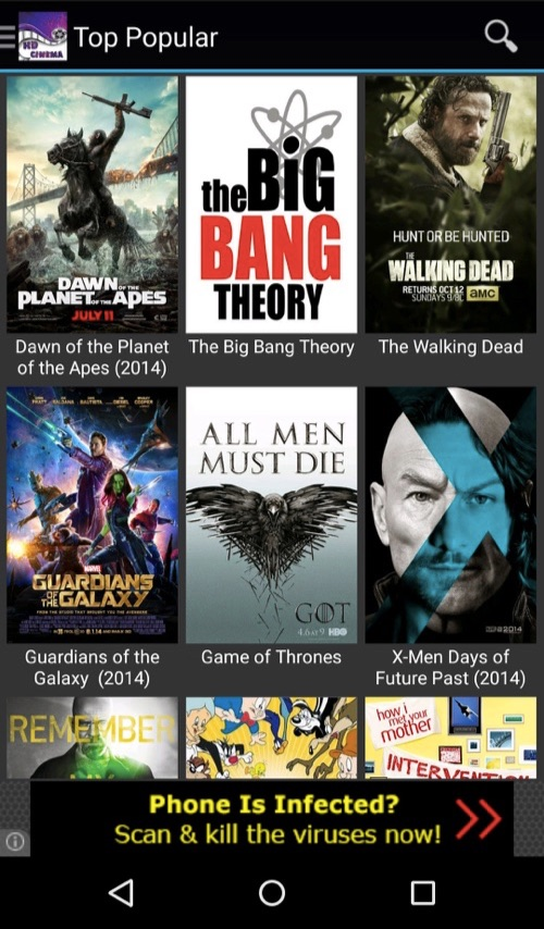 HD Cinema for Android APK Main