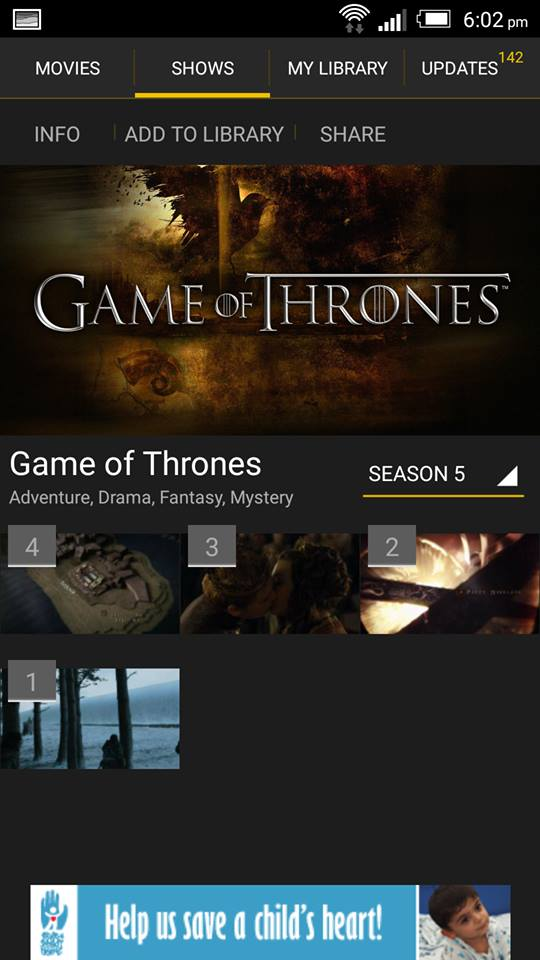 Game of Thrones on ShowBox 2