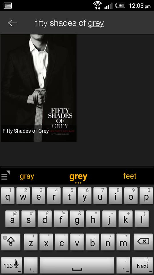 Fifty Shades of Grey on ShowBox 1