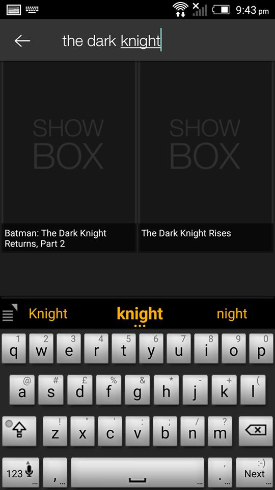 The Dark Knight Rises on ShowBox 2