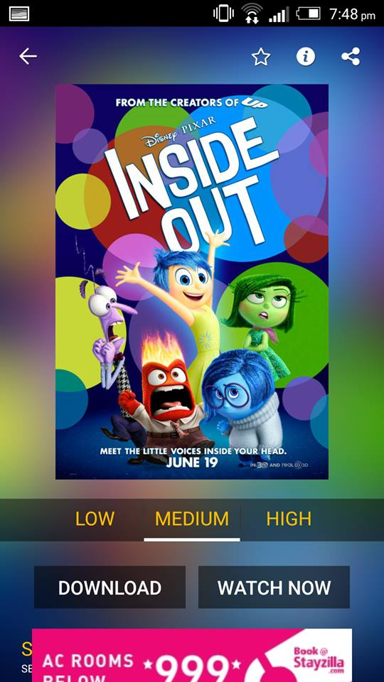 Inside Out on ShowBox 3