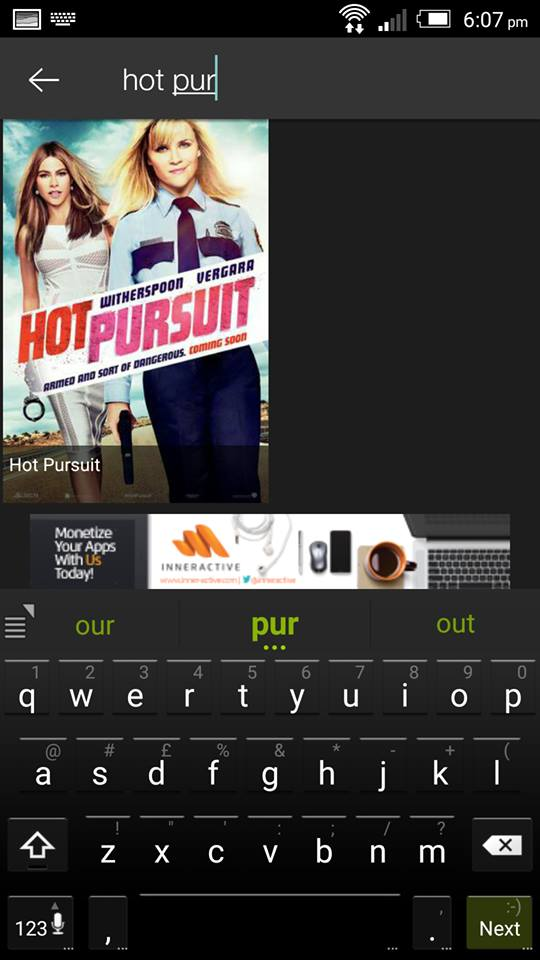 Hot Pursuit on ShowBox 3