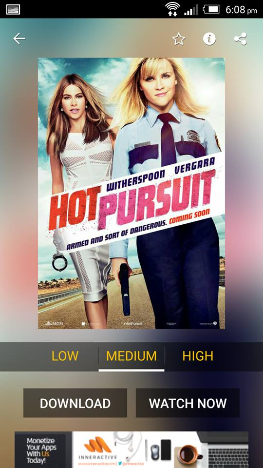 Hot Pursuit on ShowBox 4