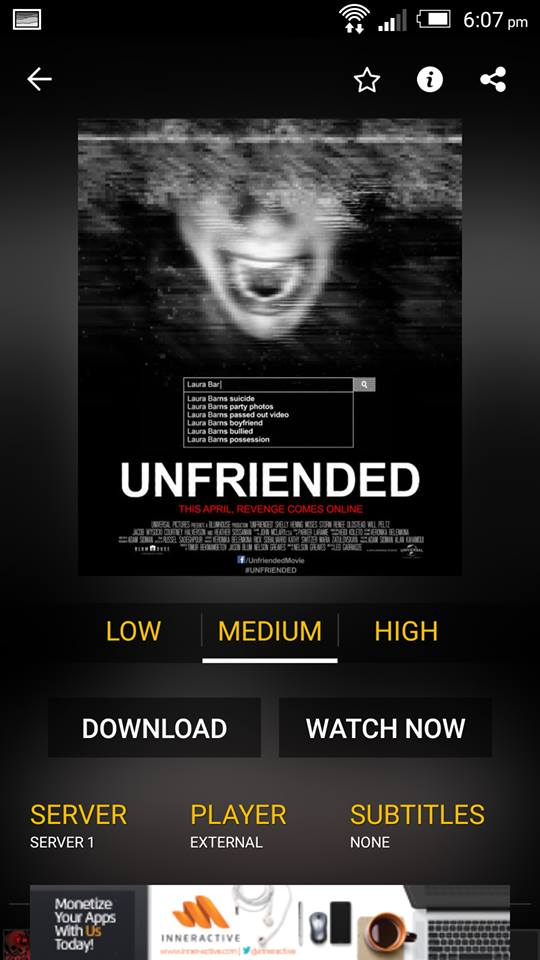 Unfriended on ShowBox 3
